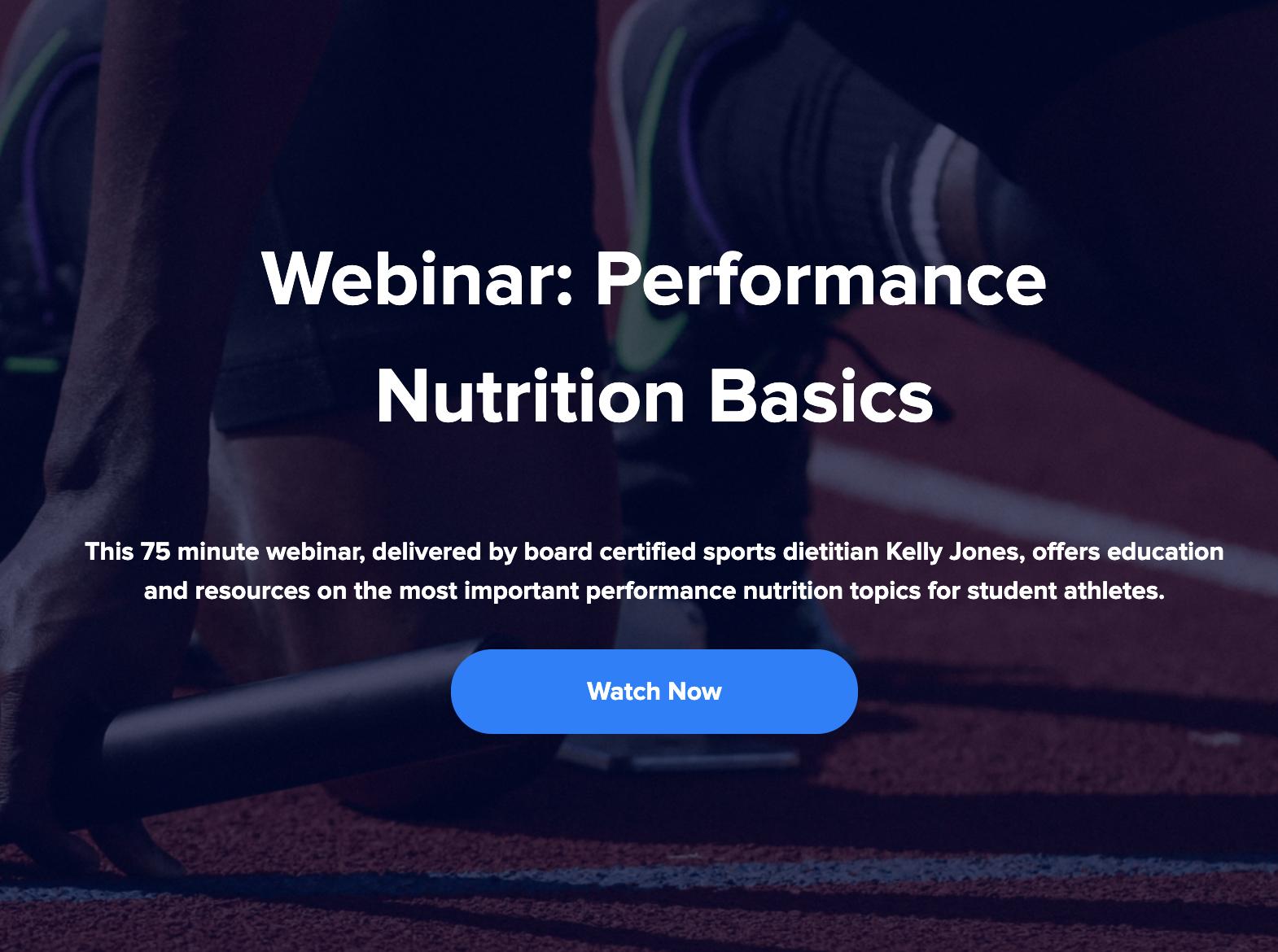 sports nutrition webinar